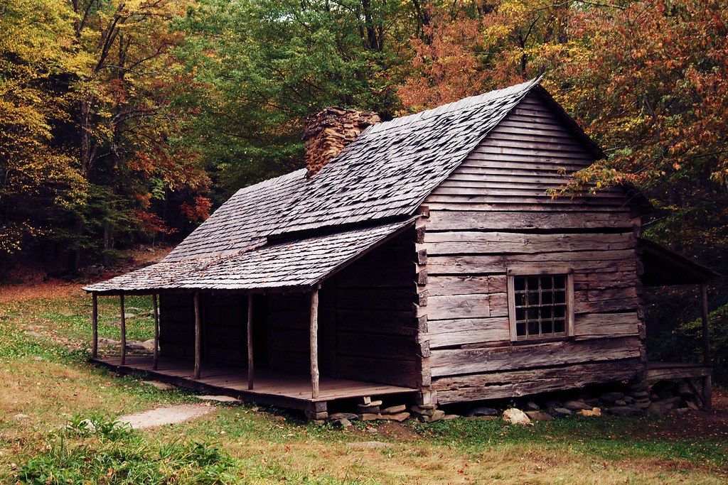 Old Cabin Outside Of Gatlinburg Tennessee On The