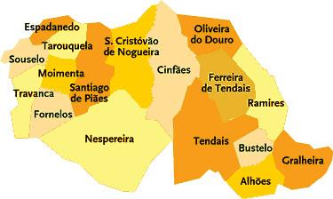mapa de cinfaes Concelho de Cinfães | Mapa das freguesias | Jorge Bastos | Flickr mapa de cinfaes
