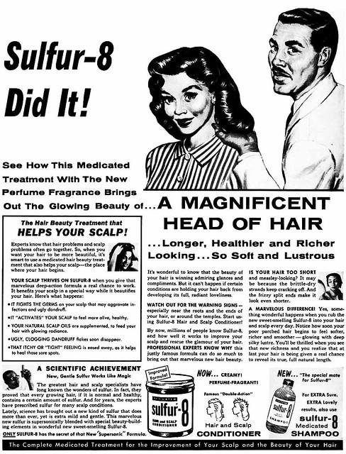 Sulphur 8 Hair Products Advertisement Ebony Magazine Ap