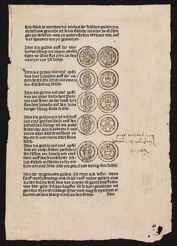 1482 book warns on Netherlandish counterfeit coins