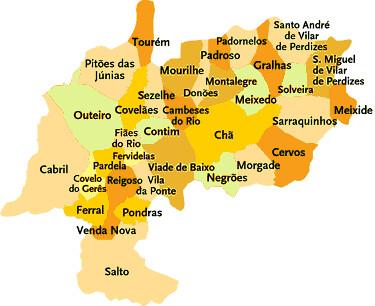 montalegre mapa Concelho de Montalegre | Mapa das freguesias | Jorge Bastos | Flickr montalegre mapa
