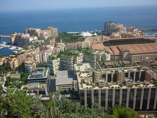 Monaco rooftops from jardin exotique flickr photo for Jardin exotique monaco