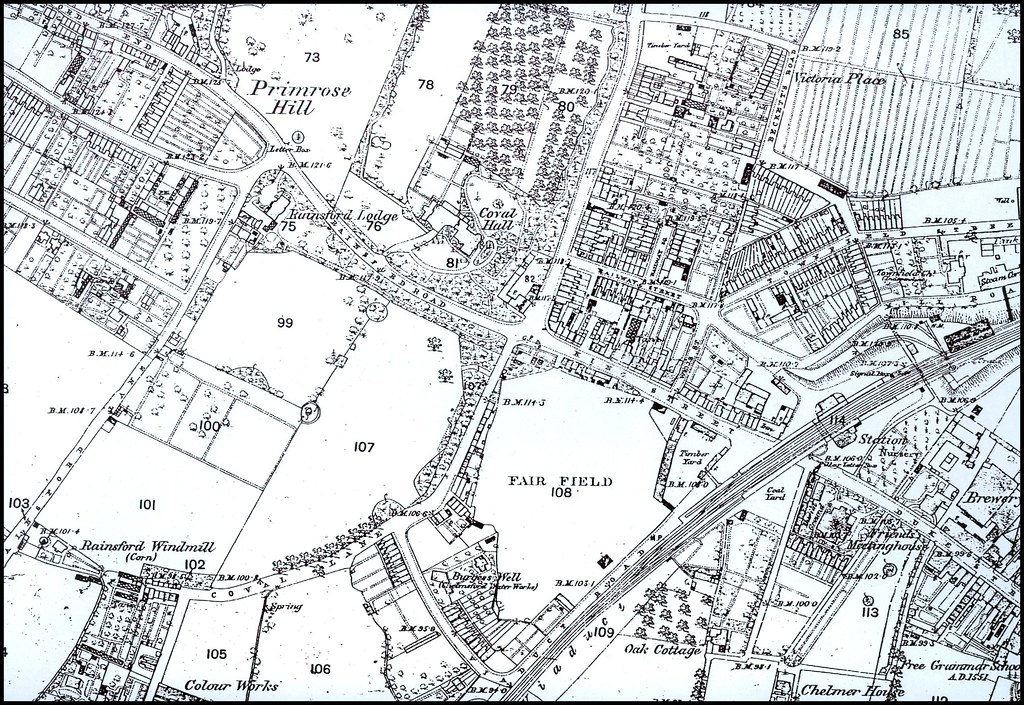 Chelmsford Map circa 1888 The West End A map of the west Flickr