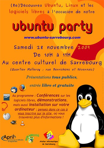 Affiche Ubuntu Party Sarrebourg 2009 | by gesnel