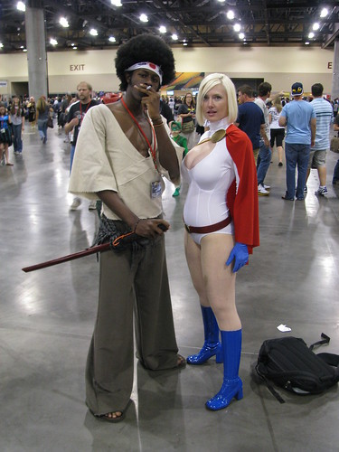 Afro Samurai And Power Girl Vegas Pg Flickr