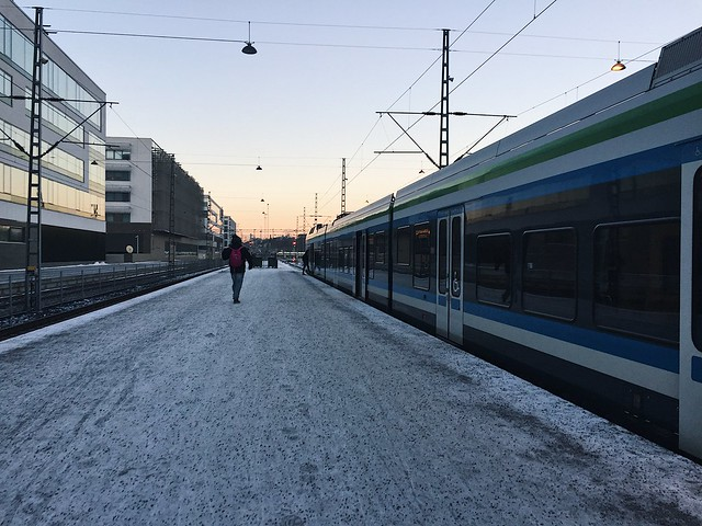 HelsinkiWInterRailwayStationTrains