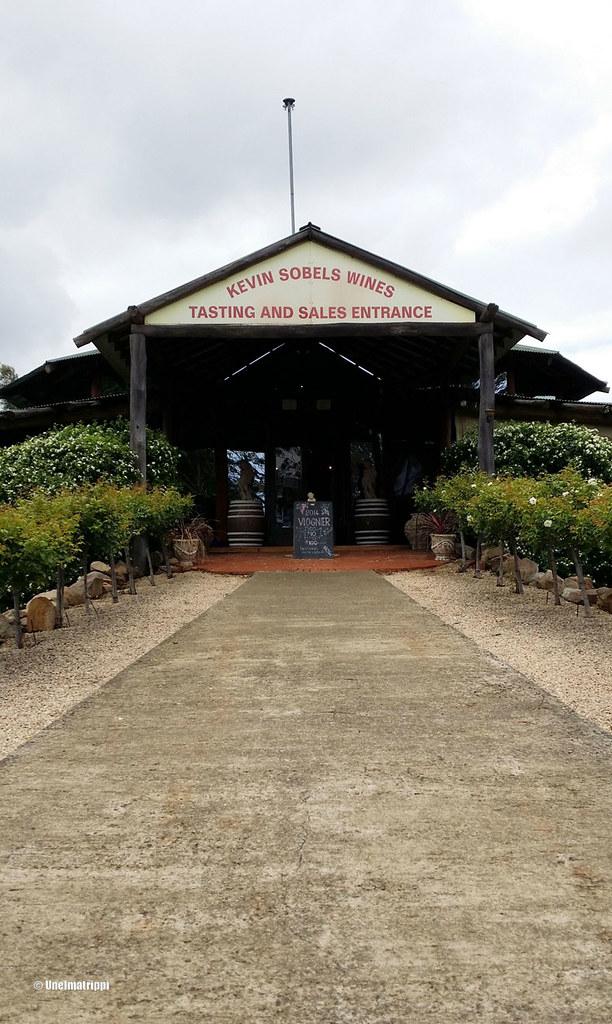 Kevin Sobelsin viinitilalla Hunter Valleyssä Australiassa