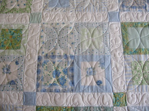 Blue & Green Quilt - close-up | by QOB