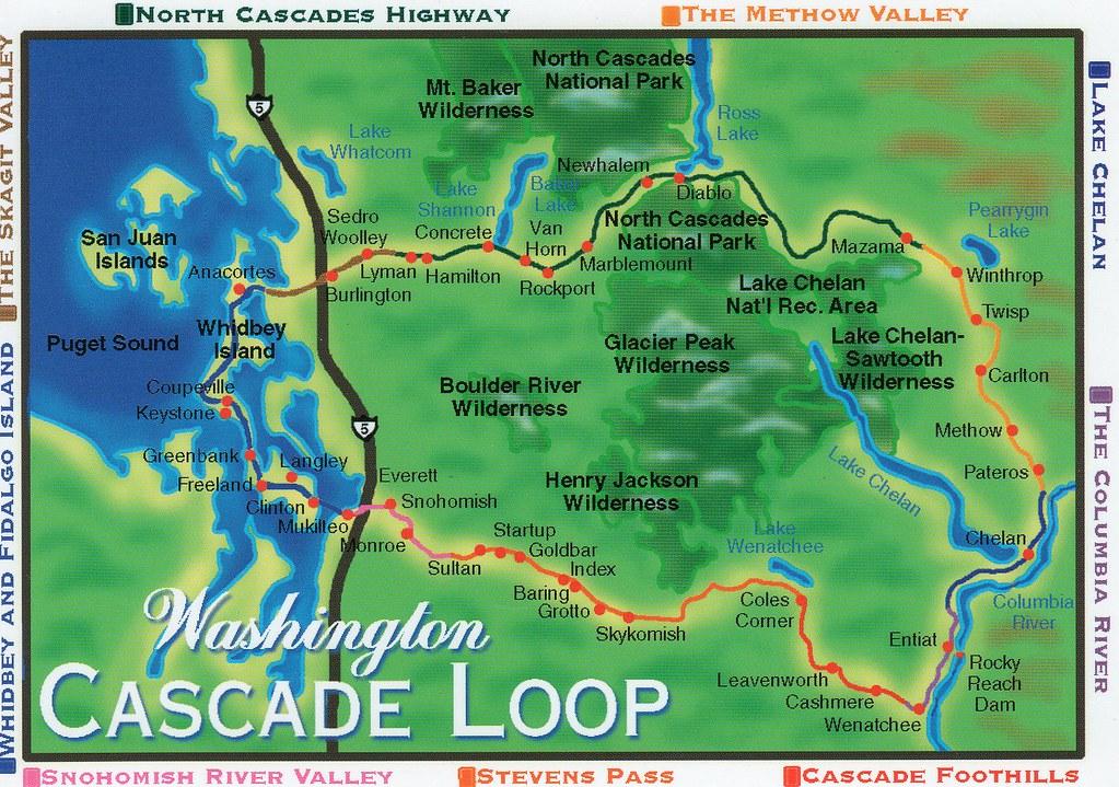 Cascade Loop Map WA Cascade Loop Map   nhigh   Flickr Cascade Loop Map