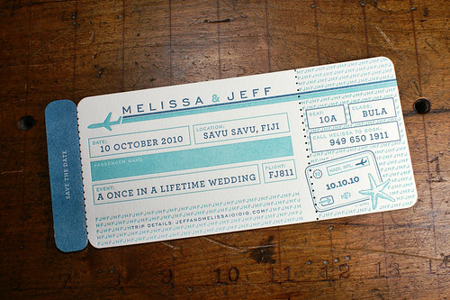 Letterpress Wedding Savedate: Pomeroy | by smokeproof