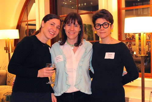 Director Lisa Gossels with producer Eden Wurmfeld and host Tracey Riese | by Foundation for Jewish Culture