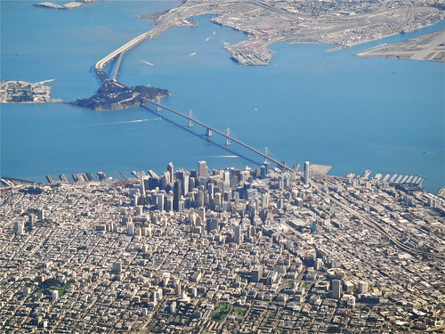 san francisco from the air a pic of downtown san. Black Bedroom Furniture Sets. Home Design Ideas