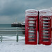 Cliché Snowing in Brighton England Shot