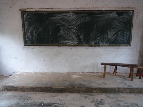 Chalkboard in Empty Classroom | by ToGa Wanderings