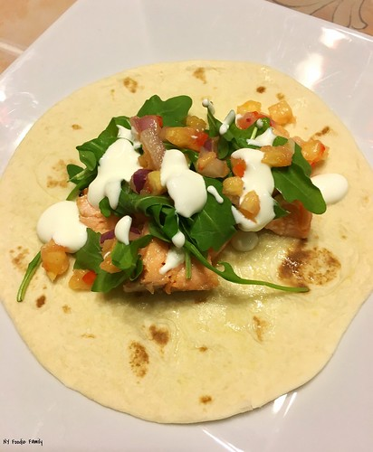 Pineapple Salmon Tacos