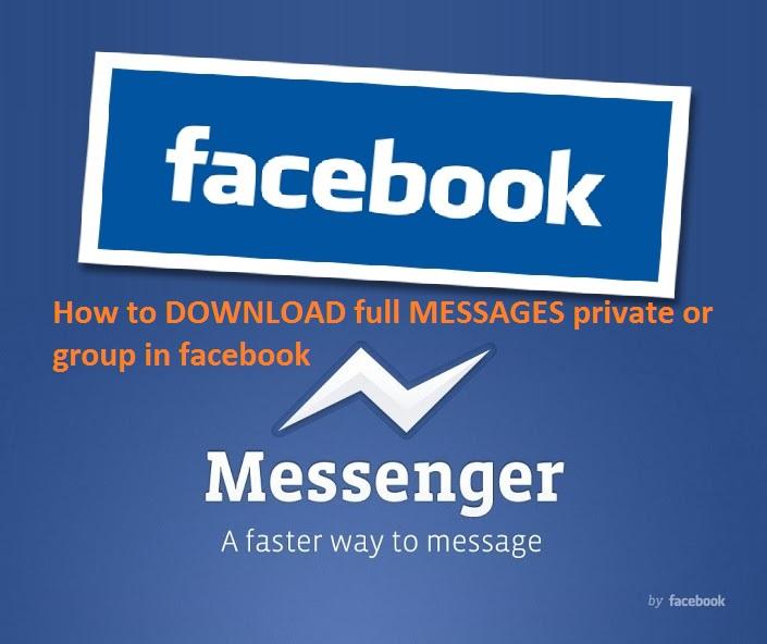Các cách tải toàn bộ tin nhắn cá nhân hay nhóm trên Facebook