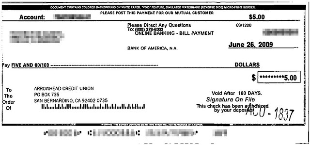 bank of america auto payment address