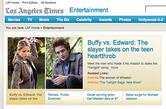 """Buffy vs Edward"" in the LA Times Online 