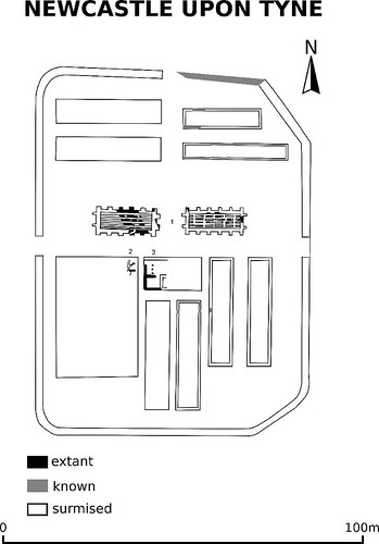 plan of Newcastle fort