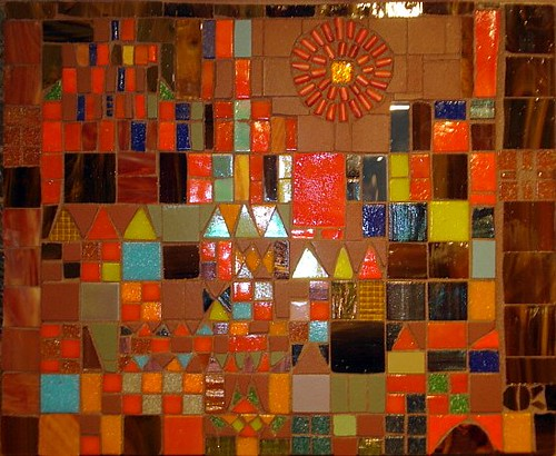Paul Klee Castle And Sun Reproduction In Mosaic Night Ti