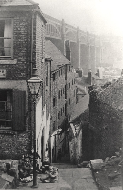 047511 Long Stairs Newcastle Upon Tyne Unknown C 1930 Flickr