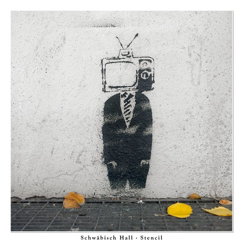 TV Man in the Autumn - Stencil | by sualk61