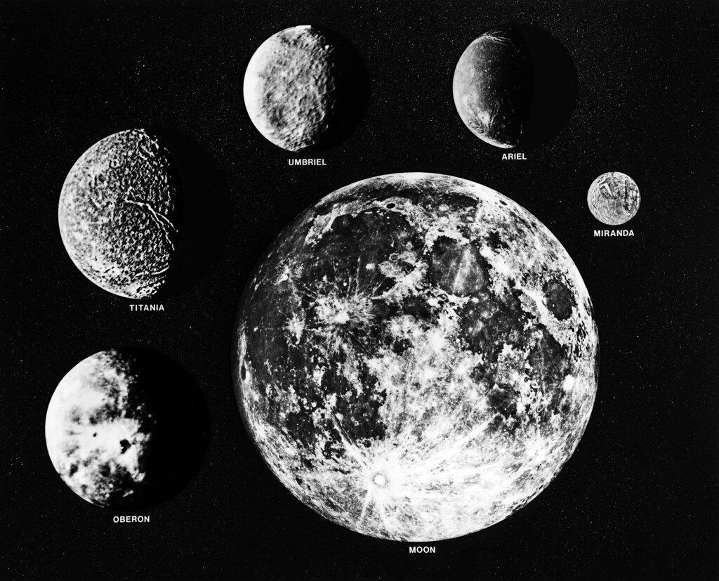 Moons Of Uranus And Earth The Five Larger Moons Of