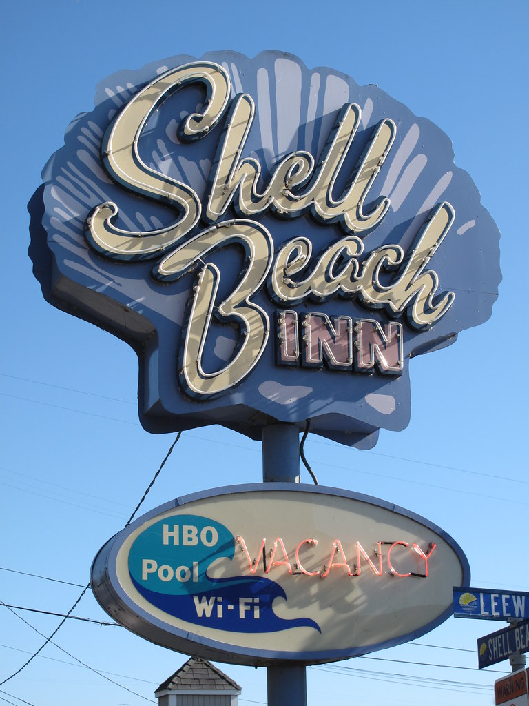 Shell Beach Inn Sign Pismo Beach