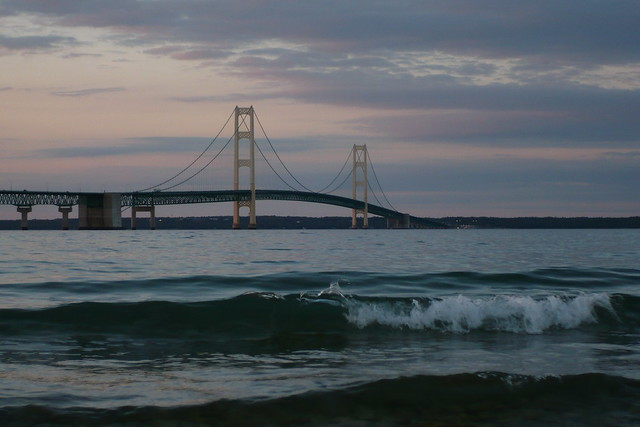 Mackinaw Beach And Bay Mackinaw City Mi