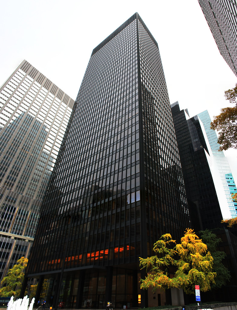 Seagram Building Park Avenue Midtown Manhattan New