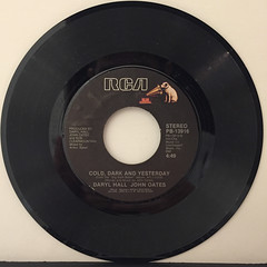 DARYL HALL & JOHN OATES:OUT OF TOUCH(RECORD SIDE-B)