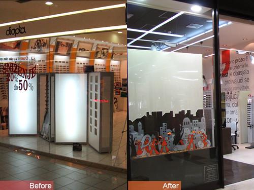 Optical shop interior design belgrade serbia for Optical store designs interior