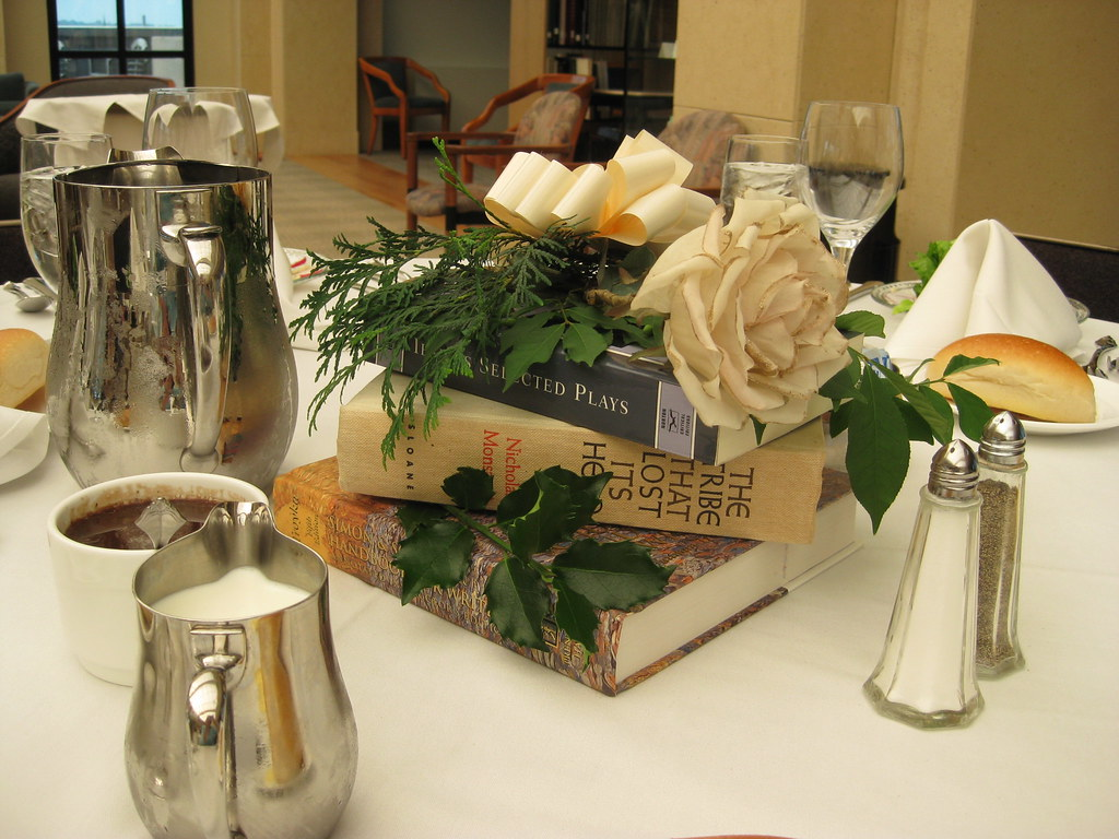 Book centerpieces the weinberg memorial library