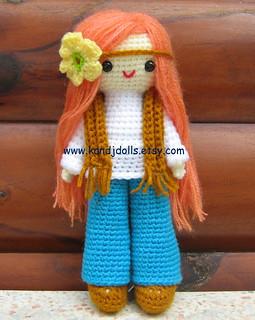 Amigurumi Crochet Patterns K And J Dolls : Hippie Daisy, amigurumi crochet pattern More amigurumi ...