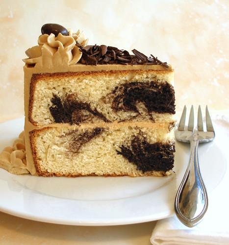 Vanilla Caramel Swirl Cake