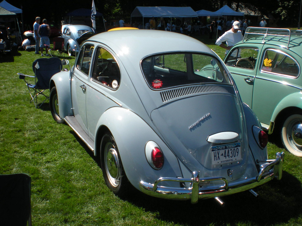 Pale Blue 1967 Vw Beetle Next To The 62 Bug Was This