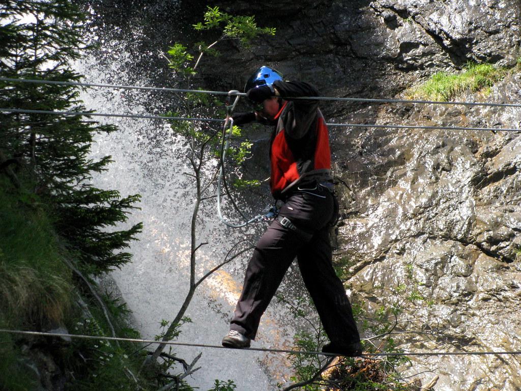 Klettersteig Bern : Seilbrücke im klettersteig mürren kanton bern schweiz flickr
