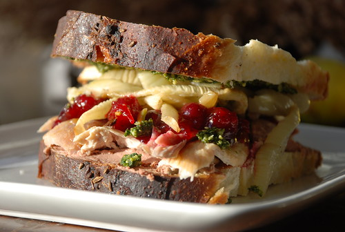 turkey sandwich (with notes) from Thanksgiving leftovers | by kthread