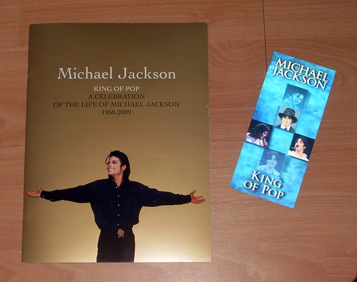 Michael Jackson This Is It tour ticket and memorial programme | by Abi Skipp
