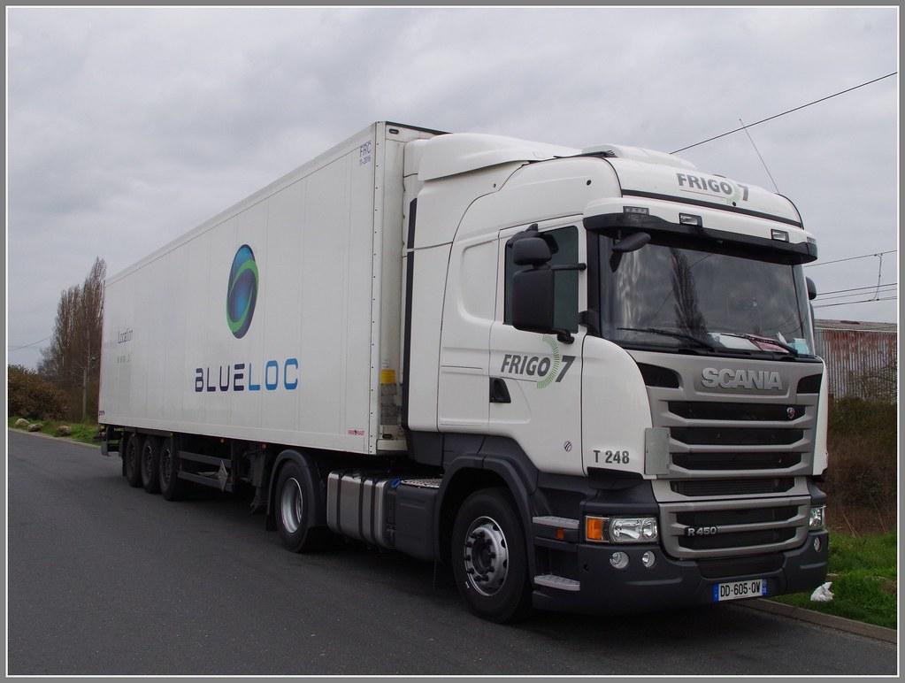 Scania r450 highline transports frigo 7 groupe mesguen - Comment transporter un frigo ...