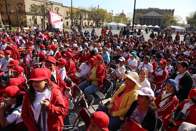"""23 Feb 2017 . Inauguración del evento especial """"Los Niños Toman la Ciudad""""; talleres y obra de teatro por los festejos del 475 Aniversario de Guadalajara."""