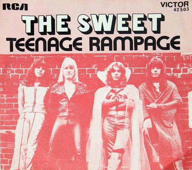 "THE SWEET TEENAGE RAMPAGE 7"" PS SINGLE"