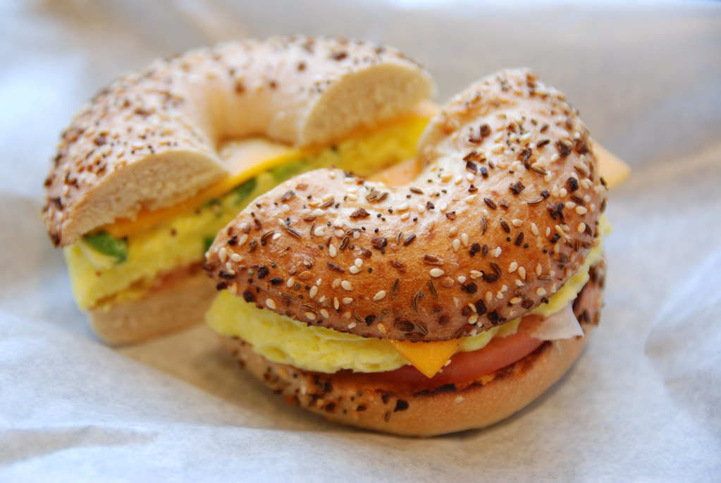 Grilled Chicken Egg & Cheese Bagel...