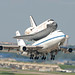 NASA 747 with shuttle Discovery departing NFW