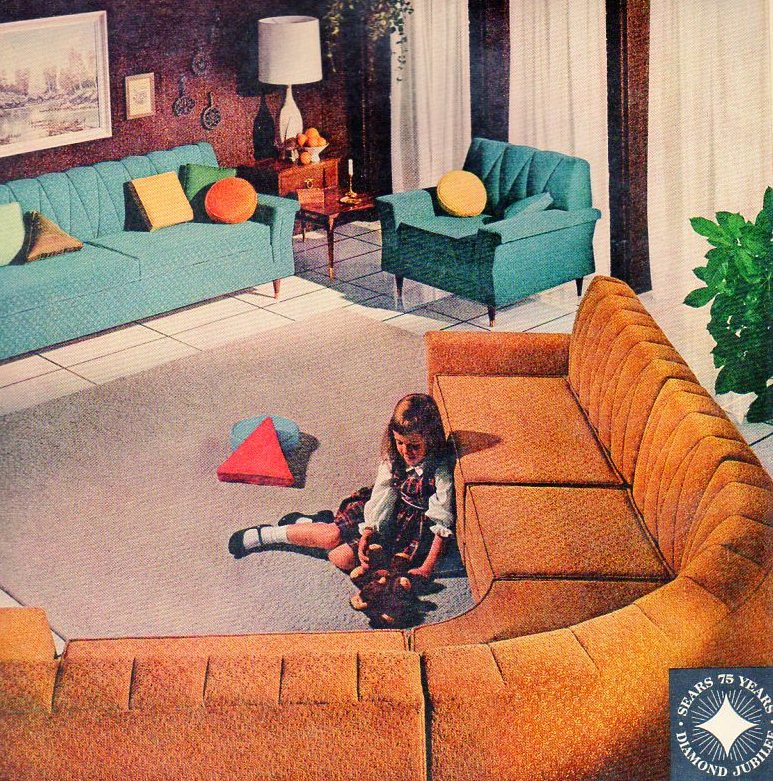 1961 sears furniture celanese acetate ad i want all of for Home decor 1960s