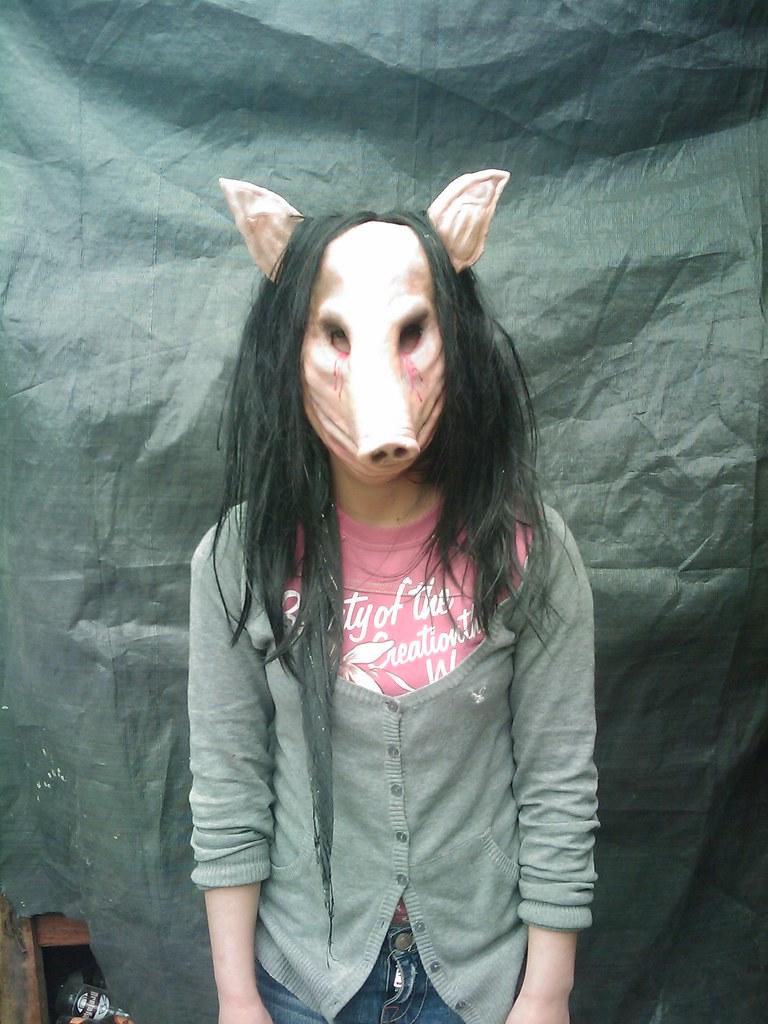 Mascara Del Jigsaw Killer Pig De La Pelicula Saw O Juego Flickr