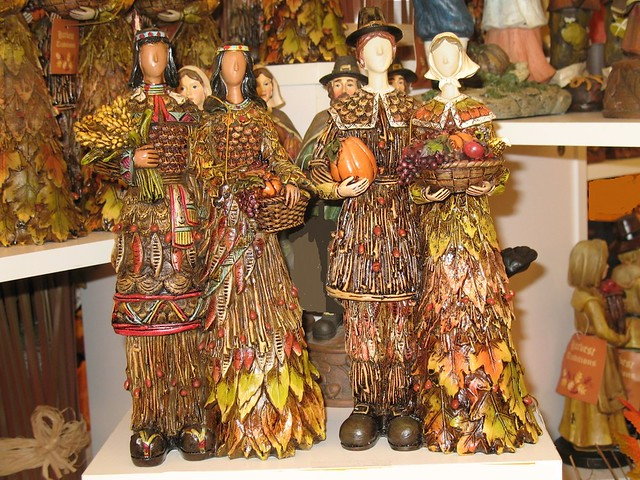 Indians and Pilgrims | Resin figurines for thanksgiving ...