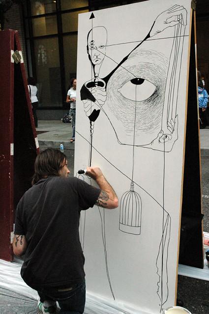... Live Art Door Painting at The Art Institute of Portland | by Art Institute of Portland & Live Art Door Painting at The Art Institute of Portland | Flickr
