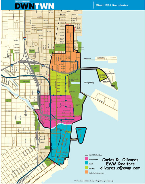 Downtown Miami Map Map of Brickell Downtown Miami Carlos