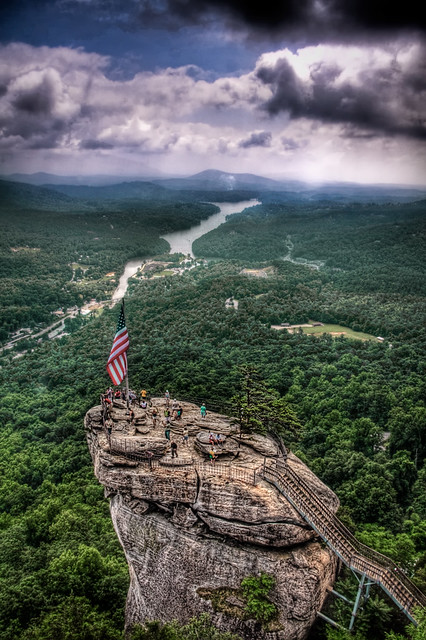 Chimney Rock Nc View On And From Chimney Rock In North